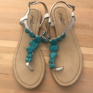 Lucky Brand turquoise stone sandals